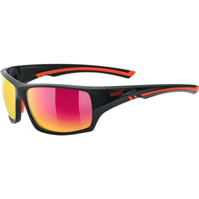 UVEX Sportstyle 222 Pola Sportglasses black matt red/mirror red